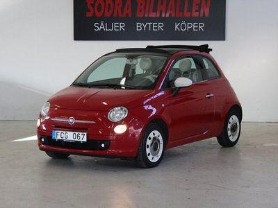 """begagnad Fiat 500C Automat /Cab / """"Lågmil"""" /69hk"""