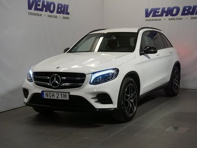 begagnad Mercedes GLC220 d 4M 220d 4-Matic 9G-Tronic AMG drag Panorama Night package