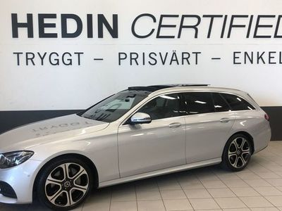 begagnad Mercedes E220 AMG-styling, Panorama, Drag