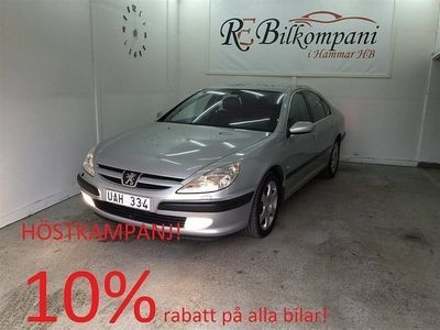 begagnad Peugeot 607 2,2 158hk Nybes,Nyserv,Lågmil!