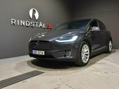 begagnad Tesla Model X P90D P90DL 772 HK AWD LUDICROUS DRAG 7-SITS SE UTR