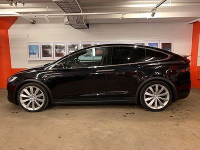 begagnad Tesla Model X 90D, 6 sitsig, AP2, Luftfjädring,
