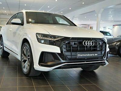 begagnad Audi Q8 50 TDI quattro Sport, S-Line Panorama Drag 2021, SUV Pris 799 000 kr