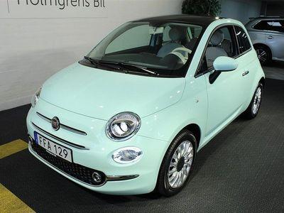 begagnad Fiat 500 Lounge 1.2 69hk Panoramatak, Bluetooth,