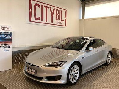 begagnad Tesla Model S 75 Panorama Köldpaket Fri Supercharge 2017, Sedan 595 000 kr