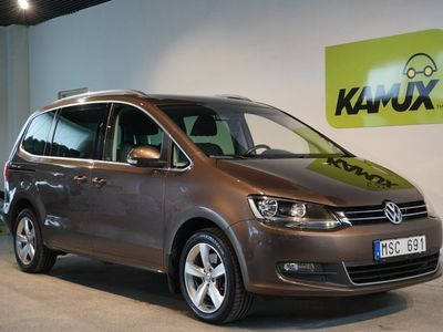 begagnad VW Sharan 2.0 TDI Premium Webasto Panorama SoV-hjul 7-sits (140hk)