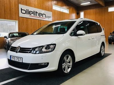 begagnad VW Sharan TDI 4M Premium 6-Sits Värm Pano Drag EU6