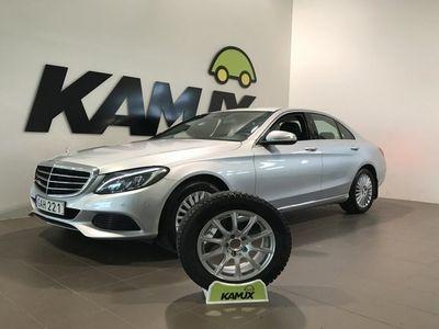 begagnad Mercedes C180 | D-värm | Skinn | Navi | Drag | S&V-hjul