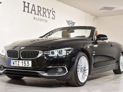 begagnad BMW 420 i Cab Luxery line 184HK Elstolar skin