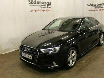 begagnad Audi A3 Sedan 1.5 TFSI Sport automatvxl. Värmare 2018, Halvkombi Pris 219 800 kr