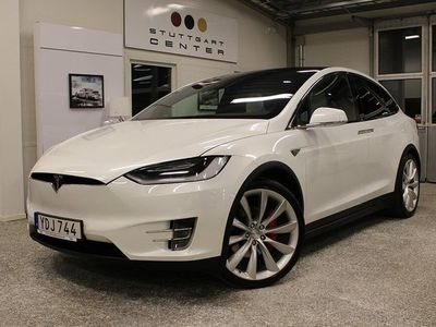 begagnad Tesla Model X P90D Ludicrous 772hk Moms/Leasbar 6-SITS UltraHifi Premium Luftf