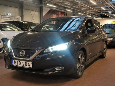 begagnad Nissan Leaf 40 kWh Single Speed Tekna. . 2019 2019, Halvkombi 309 800 kr