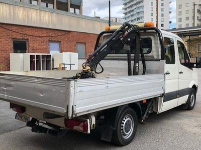 begagnad VW Crafter 2.5TDI kranbil + skopa