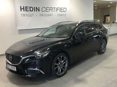 begagnad Mazda 6 Wagon 2.2 SKYACTIV-D Automatisk, 175hk, 2017