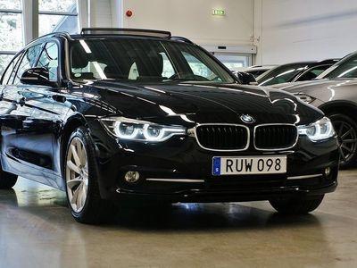 begagnad BMW 320 d Panorama Navi Lounge Pkt Sport line Drag 190hk