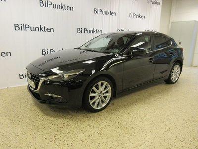 begagnad Mazda 3 2,0 OPTIMUM 165Hk Svart Skinn