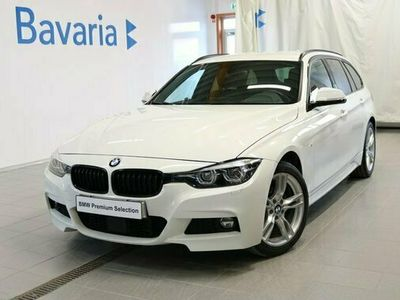 begagnad BMW 320 d xDrive Aut M-Sport Drag Nav Läder Motorvärmare 2018, Kombi Pris 248 700 kr