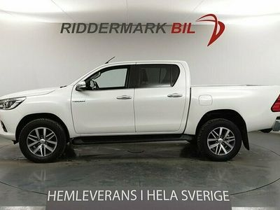 begagnad Toyota HiLux Dubbelhytt Premium 2.4 AWD Aut Eu6 150hk M-Värm Diff Moms
