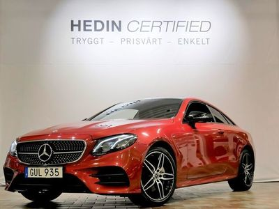 begagnad Mercedes E220 - BenzCOUPE / AMG / NIGHTPACKAGE / VÄRMARE / PANORAMA