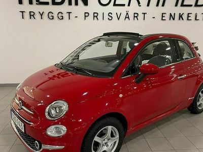 begagnad Fiat 500C 500C1.2, 69hk, LOUNGE LÅGMIL