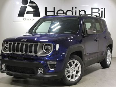 begagnad Jeep Renegade LIMITED 1,3 4T 150HK AUT FWD Skinnklädsel MY19