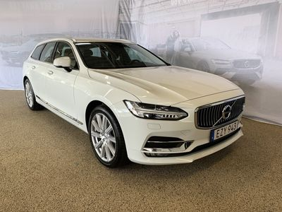 begagnad Volvo V90 T5Bi-Fuel Inscription, ader, Dragkrok halvautomatisk, Baklucka elmanövrerad, Parkeringskamera bak, Förarstol elmanövrerad 2017, Kombi 299 500 kr