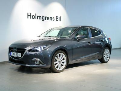 begagnad Mazda 3 2.0 5D 165 hk Optimum /skinn/ BOSE ljud/