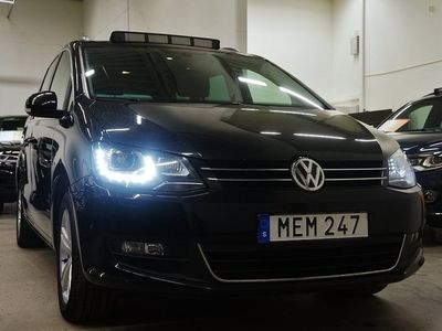 begagnad VW Sharan TDI D-Värmare Panorama 7-sits PremiumDrag 150hk