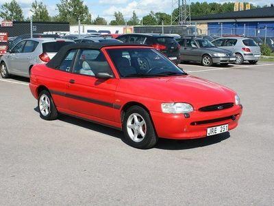 brugt Ford Escort Cabriolet 1.6 90hk Ny Besiktad -95