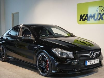 begagnad Mercedes CLA45 AMG 4MATIC AMG Speedshift, 360hk Skalstolar Navi