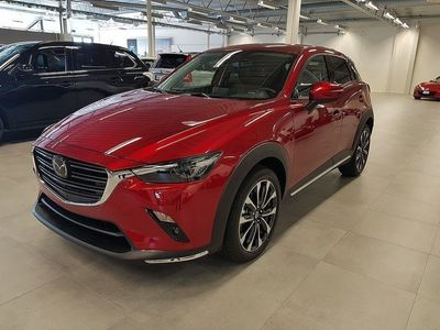 begagnad Mazda CX-3 2.0 121 hk Aut Optimum Svart skinn