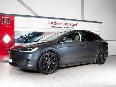 begagnad Tesla Model X P90D P90DL AWD 772HK 7-Sits Leasbar