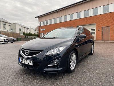 begagnad Mazda 6 Kombi 2.2 MZR-CD 13hk Facelift Toppskick Svart