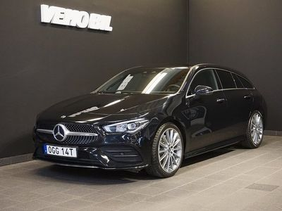 begagnad Mercedes CLA220 Shooting Brake AMG Backkamera Värmare Navi Drag Apple Carplay