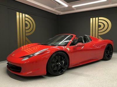 begagnad Ferrari 458 Spider (570hk) Skalstolar / Capristo / Kolfiber