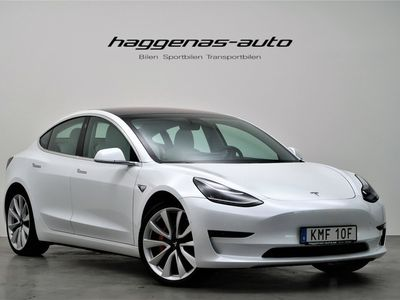 begagnad Tesla Model 3 Performance / MOMS / AWD