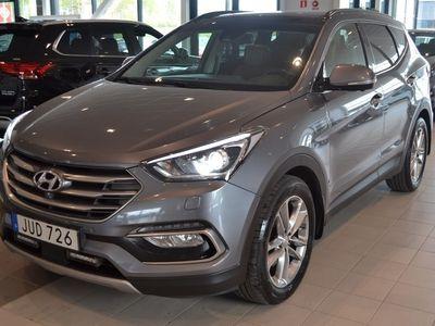 begagnad Hyundai Santa Fe 2,2 CRDi A6 4WD PremiumPlus 5 Brunt Läder SUV