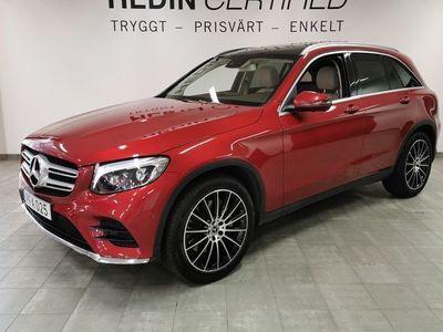 begagnad Mercedes GLC220 // AMG // Panorama // Burmester // Drag // 1 Ägare