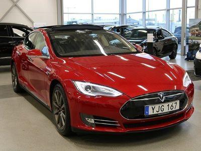 begagnad Tesla Model S P85 421hk Model Panorama