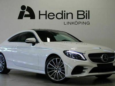begagnad Mercedes C200 - BenzCoupé Backkamera AMG Line exteriör Appl CarPlay Panelbelysning Automat