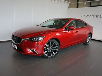 used Mazda 6 Sedan, 2.5 192 hk, aut. Optimum, svart skinn