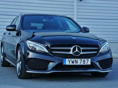 begagnad Mercedes C220 D 4M.AMG Sport Panorama Värmare Navi Drag170hk