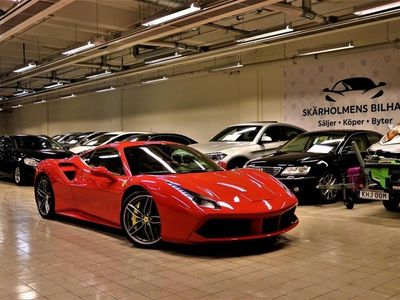 begagnad Ferrari 488 GTB 3.9 V8 DCT SV-SÅLD NYSERVAD