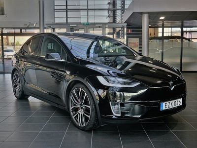 begagnad Tesla Model X P90D 90 kWh AWD 511hk 7 Sits Le -17
