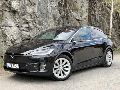 begagnad Tesla Model X 75D AWD 6-sits AP2 uppgraderad -16