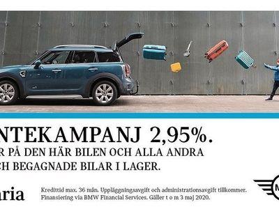 begagnad Mini Countryman SE ALL4 Salt Essential Nav Apple CarPlay 2019, Halvkombi 314 700 kr
