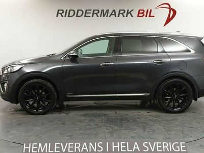 begagnad Kia Sorento 2.2CRDi 200hk AWD 7-sits Pano Nyservad Skinn Eu6