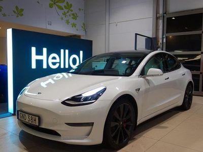 begagnad Tesla Model 3 AWD Performance AP 2020, Halvkombi 629 000 kr