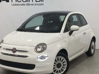 begagnad Fiat 500 LOUNGE 1.2 69 HK SERIE 7 MY20 Glastak