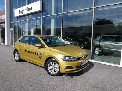 begagnad VW Polo TSI 95 honey yellow metallic